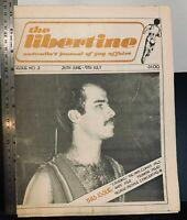 The Libertine LGBT homosexual vintage newspaper, 1980, Australian, Sydney