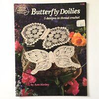 Butterfly Doilies American School of Needlework Thread Crochet 5 Patterns Doily