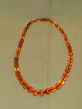 Amber necklace Soviet Russia USSR vintage scarce LARGE melted!