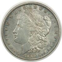 1889-P $1 MORGAN SILVER DOLLAR   AU DETAILS TONED  (071220)
