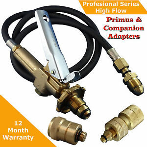LPG Filler Gun & Hose BBQ , Decanting Kit with Primus and Companion Adapters