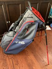 Ping Hoofer 14 stand bag grey, red, blue