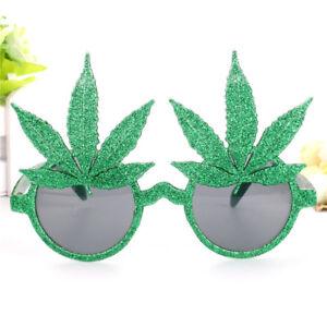 leaf decor plastic sunglasses funny eye glasses hen night party costume prODDE