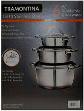 Tramontina 18/10 Stainless Steel 6 piece Stackable Cookware Set