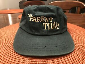 VINTAGE 1998 DISNEY The Parent Trap STRAP BACK HAT Movie Promo GREEN
