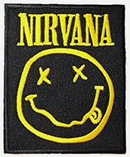 "Smiley NIRVANA Embroidered Iron On Patch Badge 4""x3"""