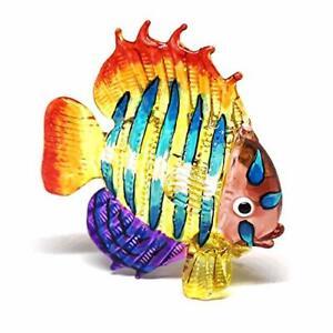Tropical Glass Sea Fish Figurine Hand Blown Art Sealife Collectible Miniature