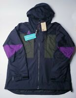NWT NikeLab ACG Anorak Jacket Mens Sz Large L Black Green Purple AQ2294 010 Nike