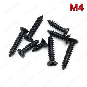 M4 Black Steel Phillips Cross Sunk Flat Head Self Tapping Sheet Metal Wood Screw
