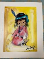 Ettore 'Ted' DeGrazia art print 'Love Me'