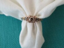 LeVian 14K ROSE GOLD CHOCOLATE DIAMOND HALO ENGAGEMENT RING .65 CT DIAMONDS