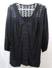 Women's New Directions Crochet trim Shirt 1X