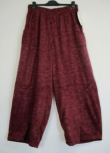 Baggy Pants/Trousers Lagenlook 40% Wool Italian 7 Colours One Size: PLus
