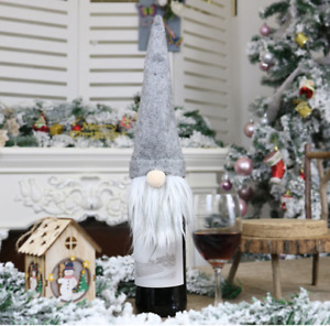 Gonk Merry Christmas Wine Bottle Cover Bag Santa Xmas Party Dinner Table Decor