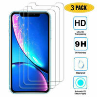 For iPhone 11 Pro MAX X XS XR 3Pack 9H HD Tempered Glass Screen Film Protector