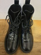 Other Stories Lace Up Leather Boots - Size 4