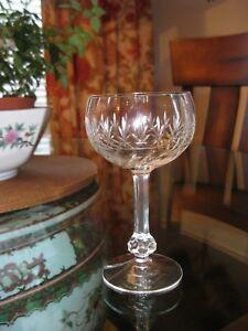 Set of 10 Vintage Etched Delicate Crystal Liquor Cordial Stemware Goblets