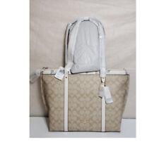 Coach May Tote  2320 Signature Dandelion Floral laptop bag shoulder bag satchel