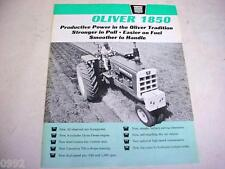 Oliver 1850 Farm Tractor Brochure 1964                                       gb4
