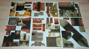 Warhammer Fantasy Mordheim Card Scenery Terrain Set 1-8 Lot 555