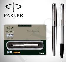 Parker Frontier Stainless Steel CT ( Chrome Trim ) Roller Ball Pen - Free Shippi