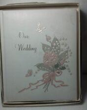 "Treasured Moments devotion Wedding album ""OUR WEDDING"" #14-001 1986 Paper Art Co"