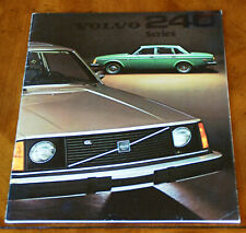 Volvo 240 series US brochure Prospekt, 1975