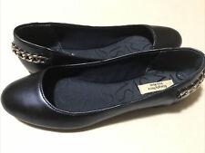 Simply Vera Wang Women's Blue Flat Shoes Sz 8 Kohl's Silver Chain Shinny Pretty