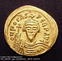 602-610 AD AEF Phocas Eastern Roman Empire Gold Solidus Sear 618 CGS 55