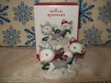 HALLMARK JINGLE AND BELL 2013 CHRISTMAS KEEPSAKE ORNAMENTS HUSKY DOG PUPPIES