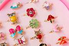 1/3/5 Pcs Mixed Jewelry Girls Ring  Crystal Rings Children Kids Band Ring Uk