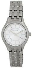Fossil BQ1590IE White Dial Stainless Steel Women's Watch