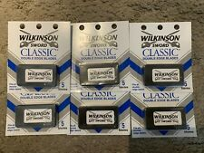 WILKINSON SWORD CLASSIC DOUBLE EDGE BLADES. 5 BLADES PER PACK. LOT OF 6