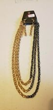 Paparazzi Short Necklace & Earring set (new) METRO MADNESS GOLD SET #6048