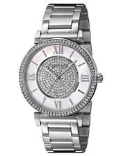 Michael Kors Catlin MK3355 Silver Tone MOP Pave Dial 38mm Wrist Watch for Women