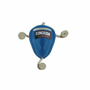 NEW! Ringside Steel Cup Groin Protector for Kickboxing Muay Thai Sparring - Blue