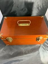 Vintage Abercrombie & Fitch Mahogany Tackle Box Solid Brass Hardware - 1950's
