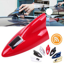 Red RGB LED Color Car Signal Shark Fin Solar Antenna Roof + Remote Control
