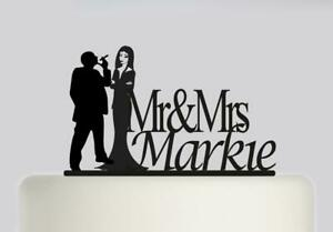Addams Family Personal Acrylic Wedding Cake Topper Mr and Mrs Cake Decoration197