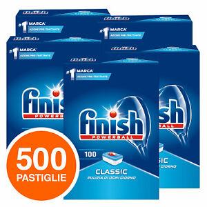 500 Pastiglie Powerball Classic Lavastoviglie Finish Detersivo Pulizia Stoviglie