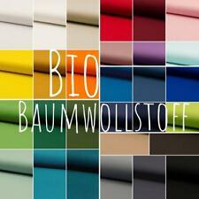 Bio Baumwollstoff 0,5 Meter kochfest 100 % Baumwolle Stoff Meterware uni schwarz