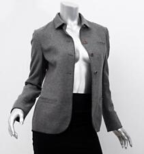 MIU MIU Womens Heather Gray Long-Sleeve Button-Down Blazer Jacket Coat 38/2 NEW