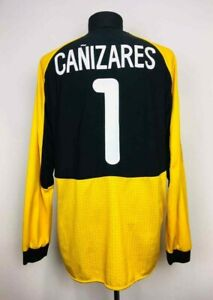 VALENCIA 2000/2001 MATCH ISSUE GK FOOTBALL SHIRT UCL SOCCER JERSEY #1 CANIZARES