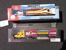 Vintage NFL Washington Redskins Trucks 2003 and 2012  New in Box Old School