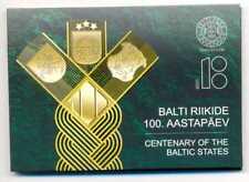 Estonia 2018 Centenary of the Baltic States 2 Euro Coin Card BU