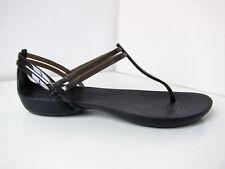 Crocs Isabella T-Strap SANDALO NERO W 9 39 40 SANDALS SHOES Thongs BLACK