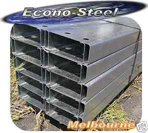 STEEL C PURLINS C 150 15, 6 mt long, Galv finish. New. Suit many applications