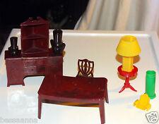 Vintage Jaydon Dollhouse Dining Room Doll House Table Chair Buffet Lamp Vases