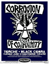 CORROSION OF CONFORMITY 2012 PORTLAND CONCERT TOUR POSTER -METAL
