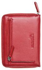 WalletBe Leather Zip Around Passport Wallets, Embossed, Credit Card, Inner ID